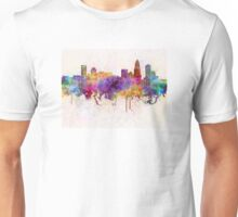 Charlotte skyline in watercolor background Unisex T-Shirt