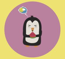 Penguin with melon   One Piece - Short Sleeve