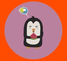 Penguin with melon   Kids Tee