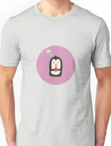 Penguin with melon   Unisex T-Shirt