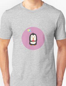 Penguin with melon   Unisex T-Shirt