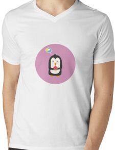 Penguin with melon   Mens V-Neck T-Shirt
