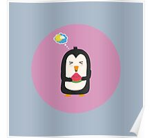 Penguin with melon   Poster