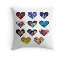 Hearts of Magic Throw Pillow