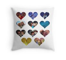 Hearts of Magic Throw Pillow