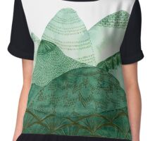 Green Mountain Dreaming Chiffon Top