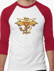 Instinct Team yellow Pokeball Men's Baseball ¾ T-Shirt