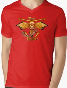Instinct Team yellow Pokeball Mens V-Neck T-Shirt
