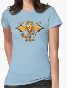 Instinct Team yellow Pokeball Womens Fitted T-Shirt
