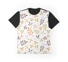 Assorted Leaf Silhouettes Retro Colors Graphic T-Shirt