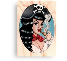 Pirate chick Canvas Print