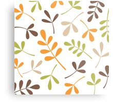 Assorted Leaf Silhouettes Retro Colors Metal Print