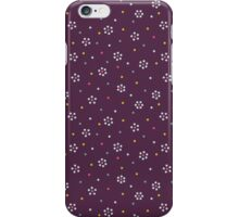 Floral Pattern In Purple And Dots iPhone Case/Skin
