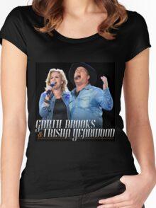TOUR MUSIC GARTH BROOKS Women's Fitted Scoop T-Shirt