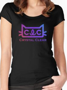 Clc 케이팝 질문 t 셔츠 2016 한국 크리스탈 클리어 첫 사랑 t 케이팝 옷 팬 짧은 티 yeeun seunghee seungyeon Sorn - Crystal Clear CLC Women's Fitted Scoop T-Shirt