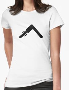 Pilates Yoga symbol Womens Fitted T-Shirt