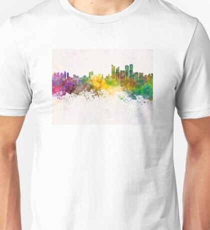 Busan skyline in watercolor background Unisex T-Shirt