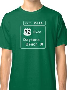 Daytona Beach, Road Sign, FL Classic T-Shirt