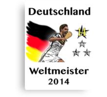 Deutschland Weltmeister 2014 (Germany World Champions 2014) Canvas Print