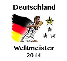 Deutschland Weltmeister 2014 (Germany World Champions 2014) Photographic Print