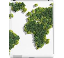 World Map made of green trees iPad Case/Skin