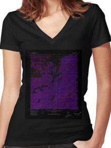 USGS TOPO Map Alaska AK Ruby D-2 358617 1952 63360 Inverted Women's Fitted V-Neck T-Shirt