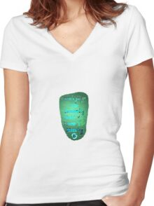 Don't Judge The Screaming 18 Women's Fitted V-Neck T-Shirt