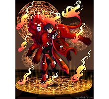 Kieth | Red Paladin of Fire | Aries Photographic Print