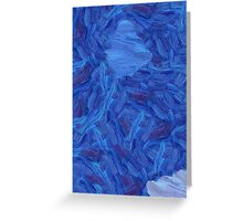An abstract Brush Strokes design Greeting Card