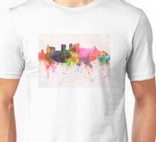 Birmingham AL skyline in watercolor background Unisex T-Shirt