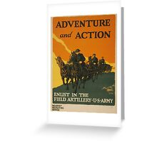 Adventure and Action (Reproduction) Greeting Card