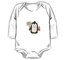 Penguin with Cactus   One Piece - Long Sleeve