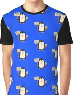 Penguin with Cactus   Graphic T-Shirt