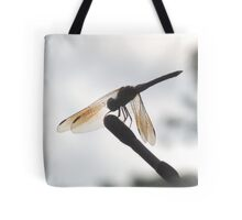 Dragonfly Sitting on Car Antenna Tote Bag
