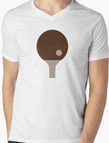 Ping Pong paddle Mens V-Neck T-Shirt