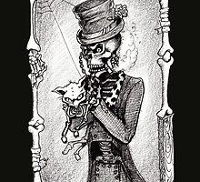Dead kitty (black and white) by Isobel Von Finklestein