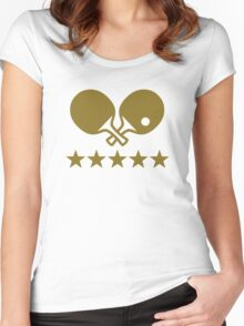 Crossed Ping Pong paddles stars Women's Fitted Scoop T-Shirt