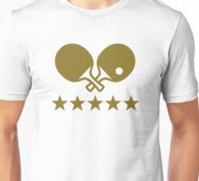 Crossed Ping Pong paddles stars Unisex T-Shirt
