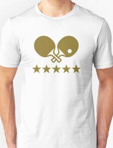 Crossed Ping Pong paddles stars T-Shirt