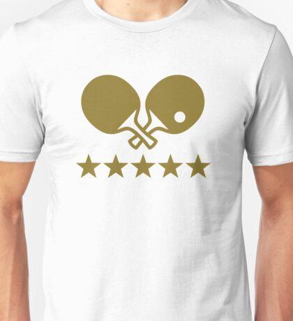 Crossed Ping Pong paddles stars Unisex T-Shirt