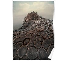 Sunny morning at Giant's Causeway Poster