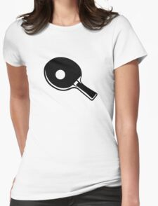 Ping Pong paddle Womens Fitted T-Shirt