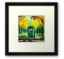 Tardis Art Paint Framed Print
