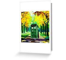 Tardis Art Paint Greeting Card