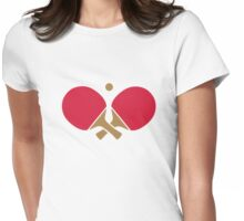 Crossed ping pong paddles Womens Fitted T-Shirt