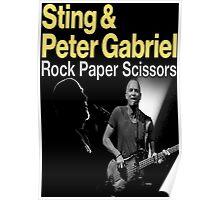 sting and gabriel paper scissors tour Poster