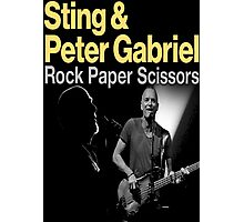 sting and gabriel paper scissors tour Photographic Print