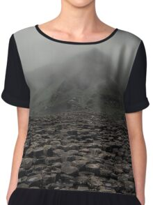 Foggy morning in Giant's Causeway Chiffon Top