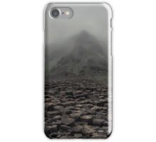Foggy morning in Giant's Causeway iPhone Case/Skin