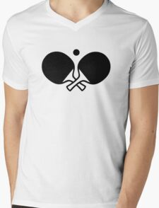 Crossed table tennis paddles Mens V-Neck T-Shirt
